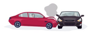 vector of a t-bone accident